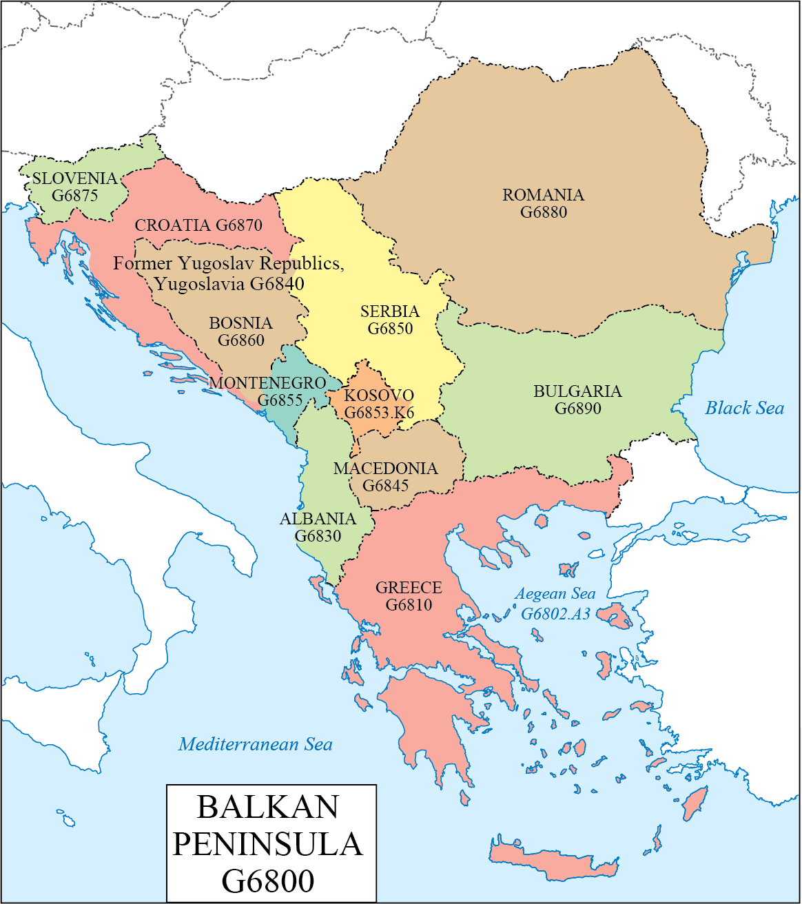 LC G Schedule Map 23: Balkan Peninsula | WAML Information Bulletin