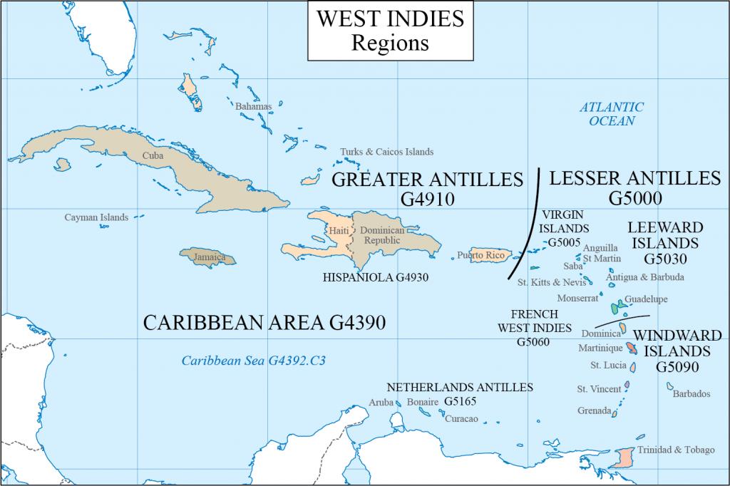G schedule 13 Caribbean regions