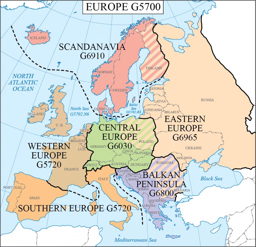 G schedule 18 Europe regions