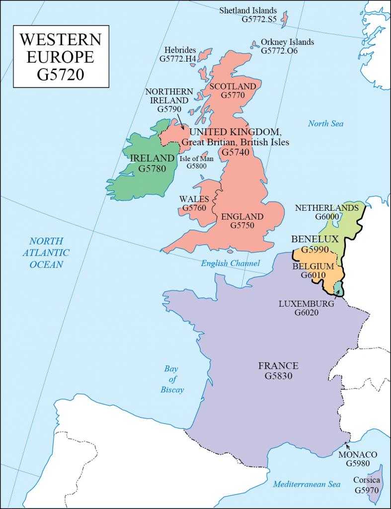 G schedule 19 Western Europe