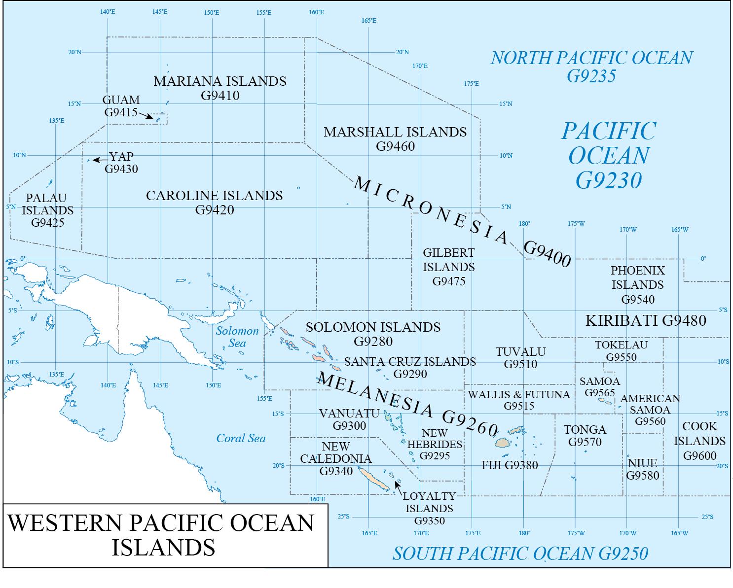 LC G Schedule Map 42: Western Pacific Ocean | WAML Information Bulletin