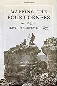 Book cover showing a surveying party on a cliff top.