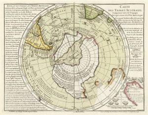Historical map of Antarctica
