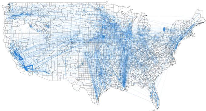 Map of U.S. Food Supply Chain network
